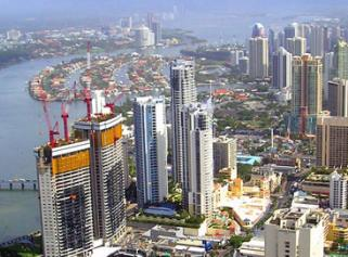 Gold Coast city skyline aerial
