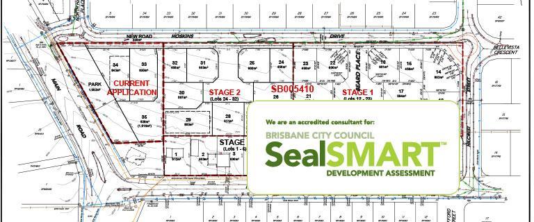 sealsmart logo and civil works plan